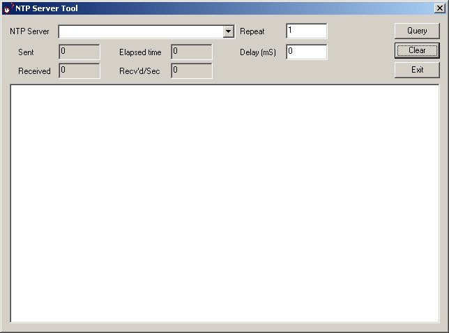 Click to view NTP Server Tool 2.0 screenshot